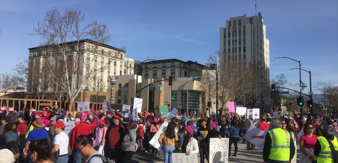 """Stand up, fight back"": Women's March takes over downtown San Jose"