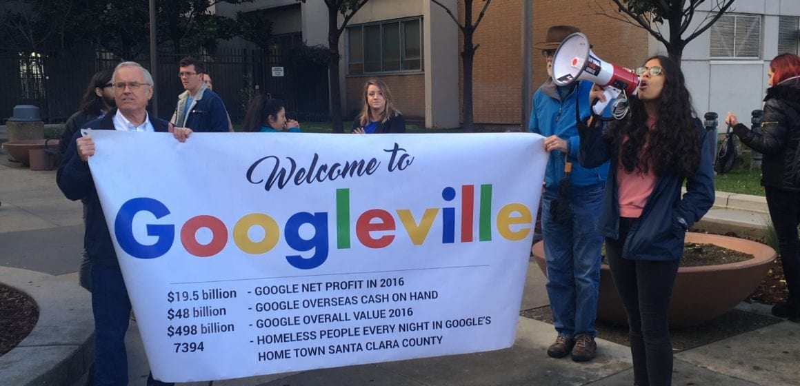 No charges for Google protestors, but the fight will march on