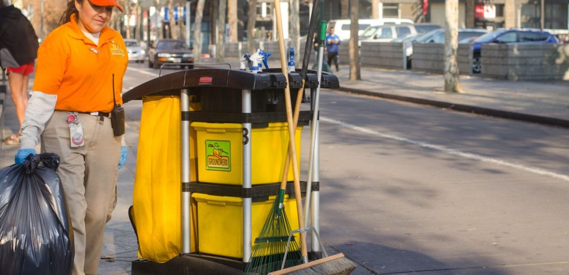 They wear bright shirts and clean downtown. Who are the Groundwerx crews?