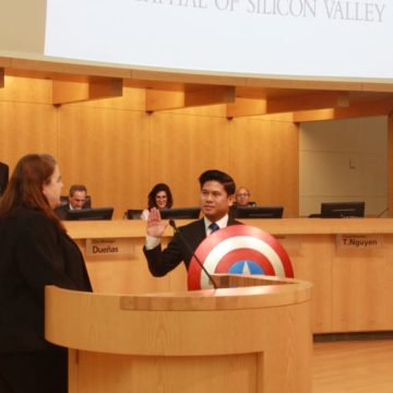 San Jose's Councilman Captain America meets Bernie Sanders