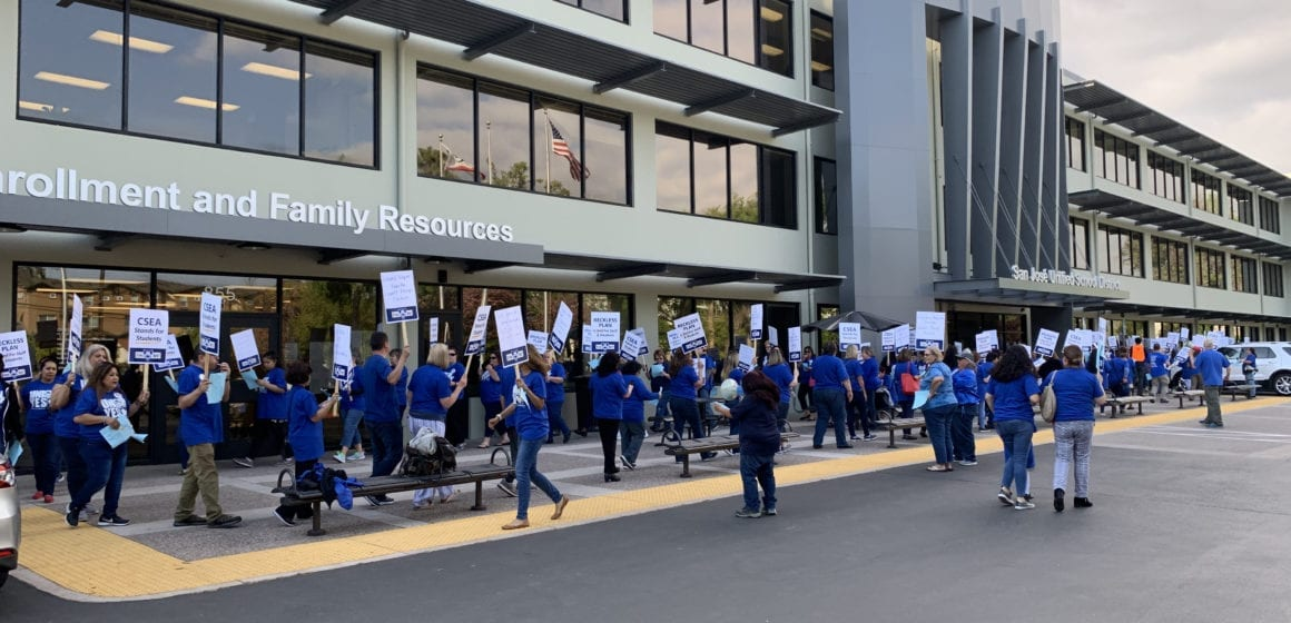 San Jose Unified employees protest staff changes