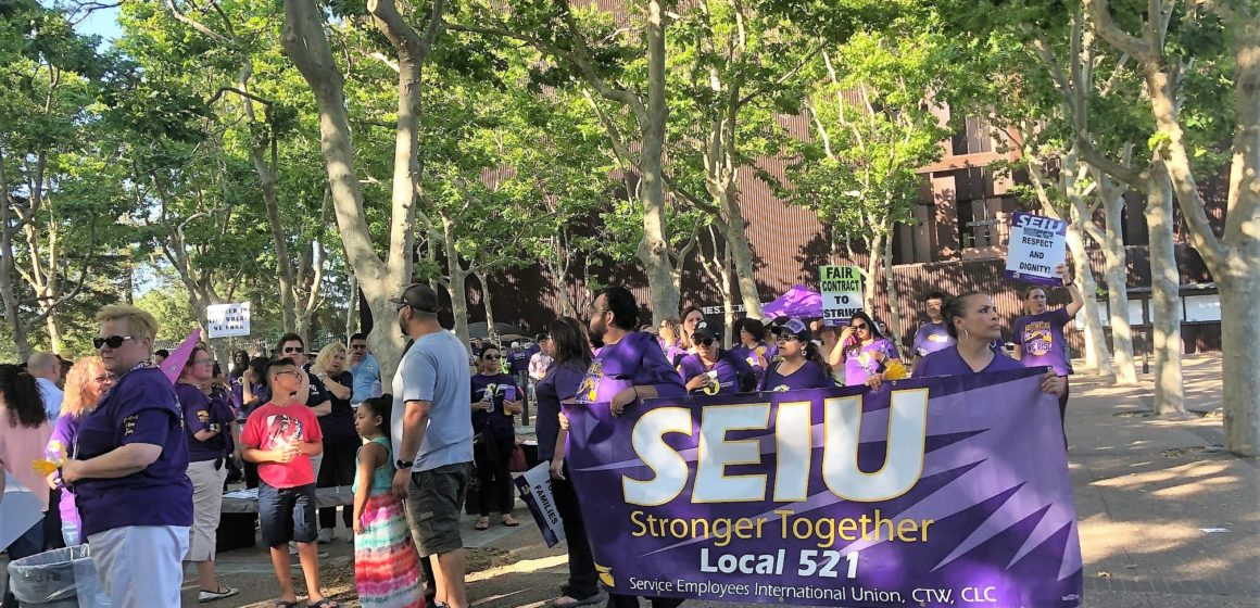 Hundreds of Santa Clara County workers rally for health care, wages