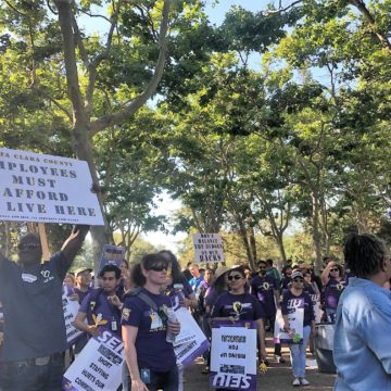 Just before Labor Day, Santa Clara County service workers poised to strike