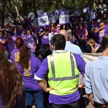 On verge of strike, Santa Clara County workers swarm CEO's office