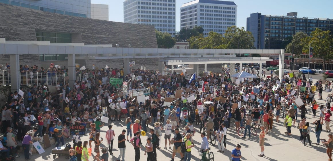 Hundreds marched through downtown San Jose for climate strike