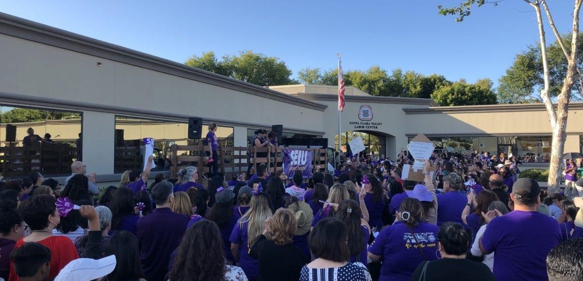 Los líderes laborales de South Bay sancionan la huelga de miles de empleados del condado de Santa Clara