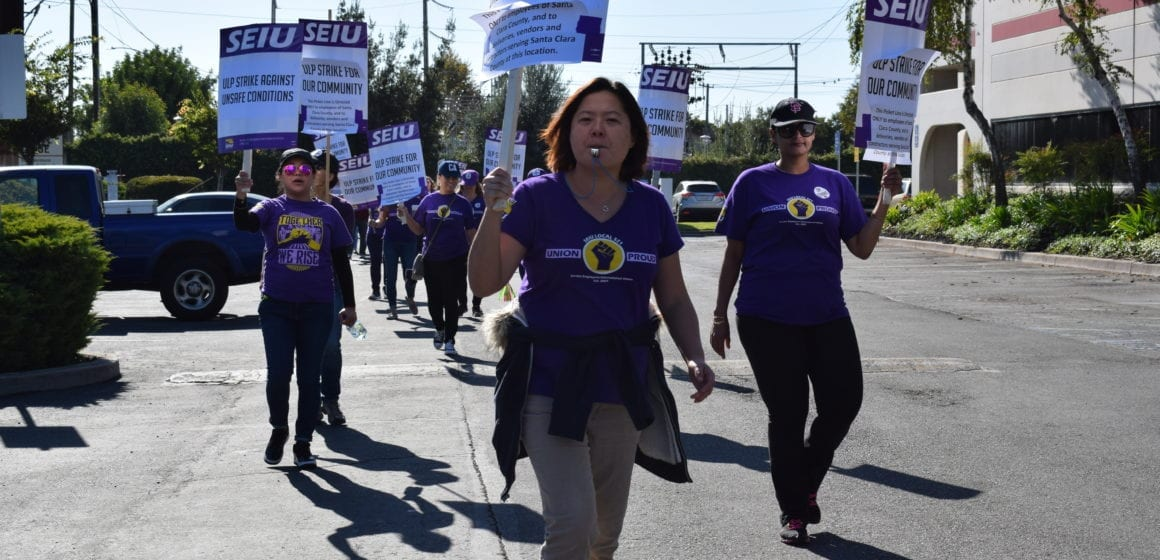 Update: Strike begins for Santa Clara County workers amid contract dispute