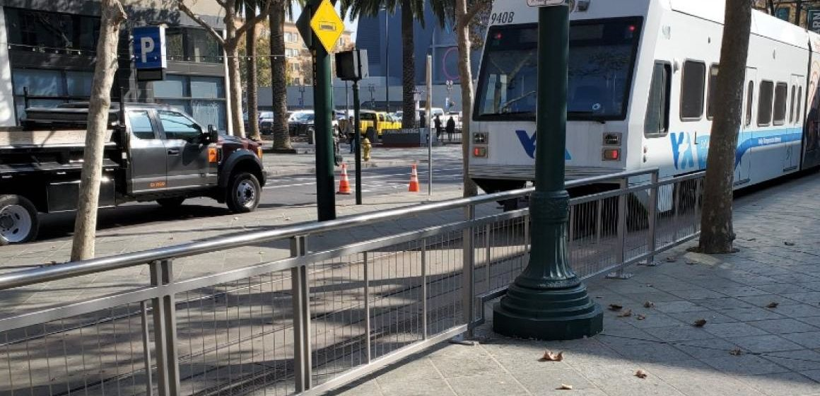 VTA installs new safety railings in downtown San Jose