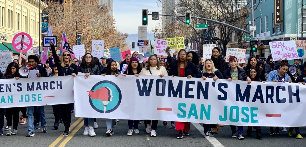 Thousands march in downtown San Jose for Women's March 2020