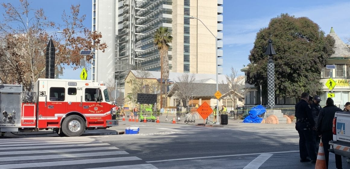 Downtown San Jose gas leak shuts down San Fernando as buildings are evacuated nearby
