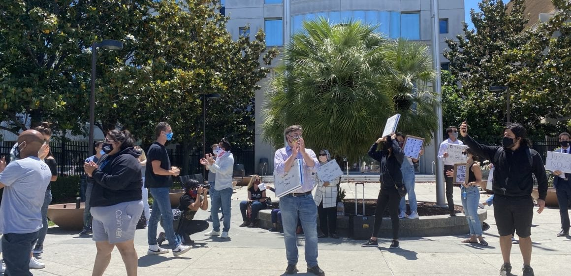 Public defenders rally against Santa Clara County court closures amid protests