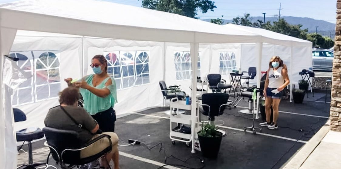 Outdoor services offer lifeline to South Bay salons struggling to survive