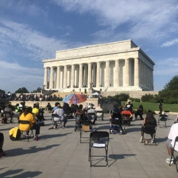 Thousands protest racism at the March on Washington