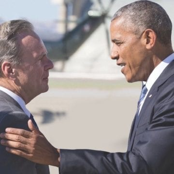 Battle for Obama: Senate candidate demands opponent pull ads implying endorsement