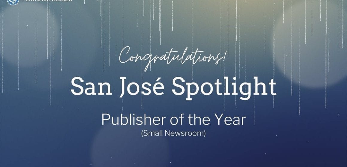 San José Spotlight wins national Publisher of the Year award