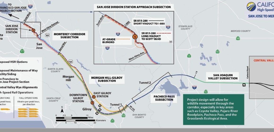 Staedler: tren de alta velocidad colaborando para un beneficio mutuo en Coyote Valley