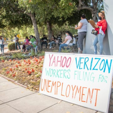 Tech industry service workers in Silicon Valley fear wave of job losses