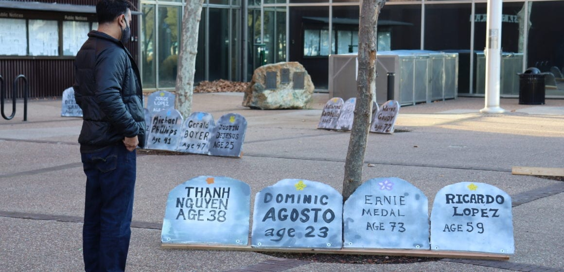 Tombstones honor 196 homeless people who died in Silicon Valley