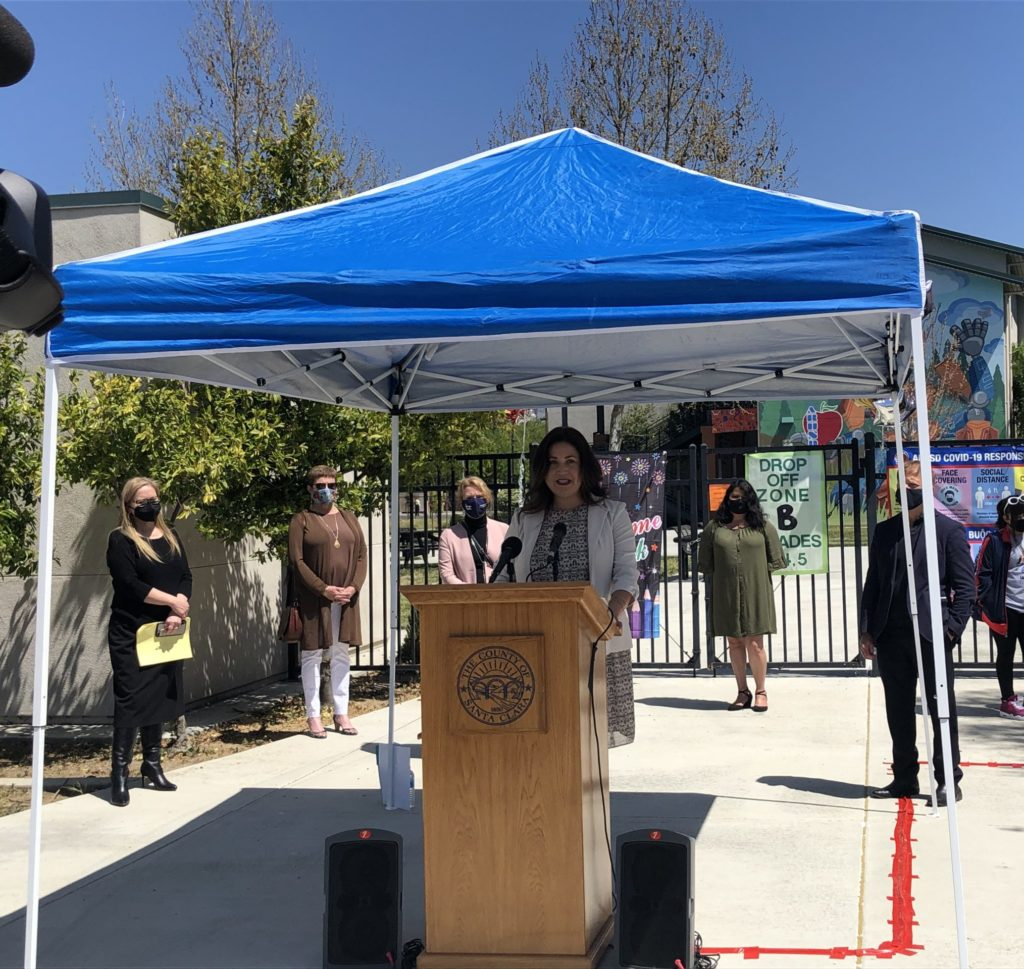 Alum Rock School Board President Corina Herrera-Loera said the district cares about serving children and families, as well as having staff and teachers do what they love. Photo by Lorraine Gabbert.