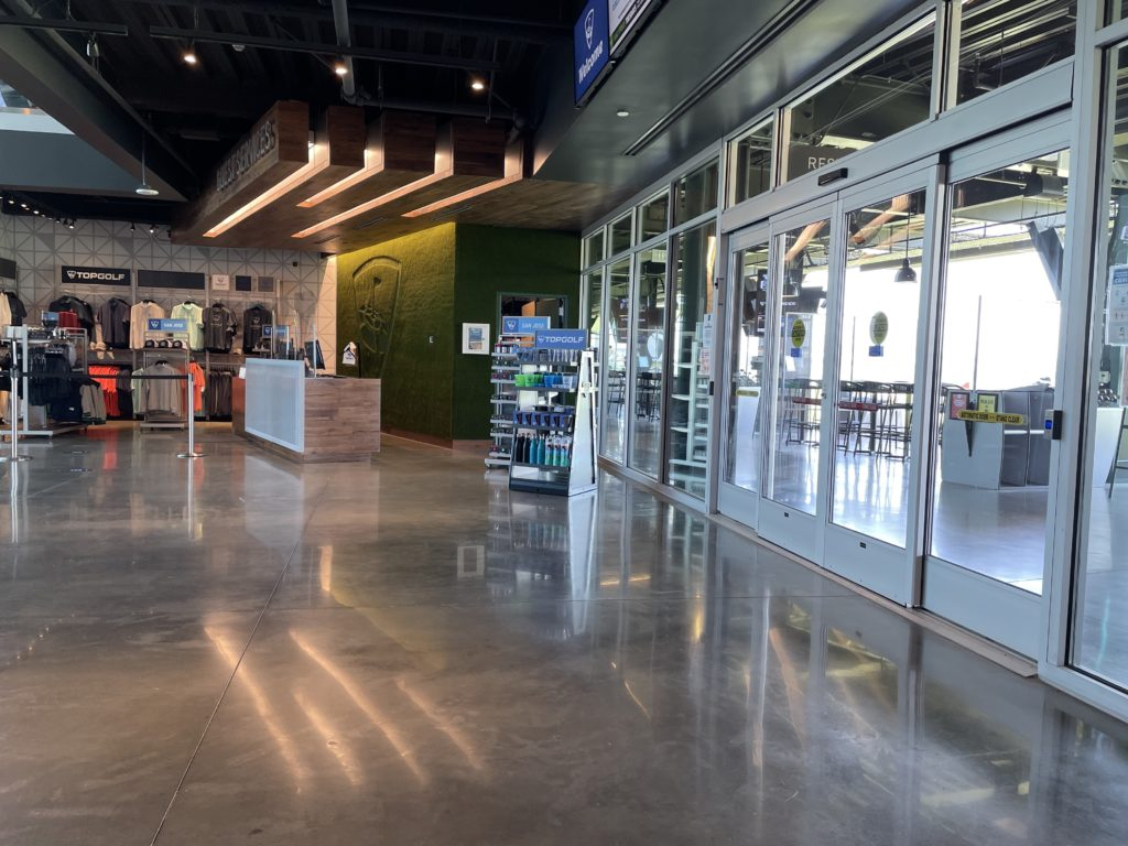 Inside Topgolf's pro shop. Photo by Lloyd Alaban.