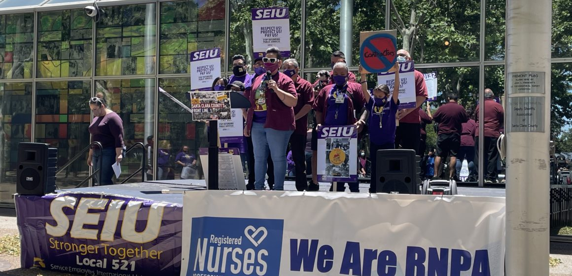 Santa Clara County workers rally for safety changes