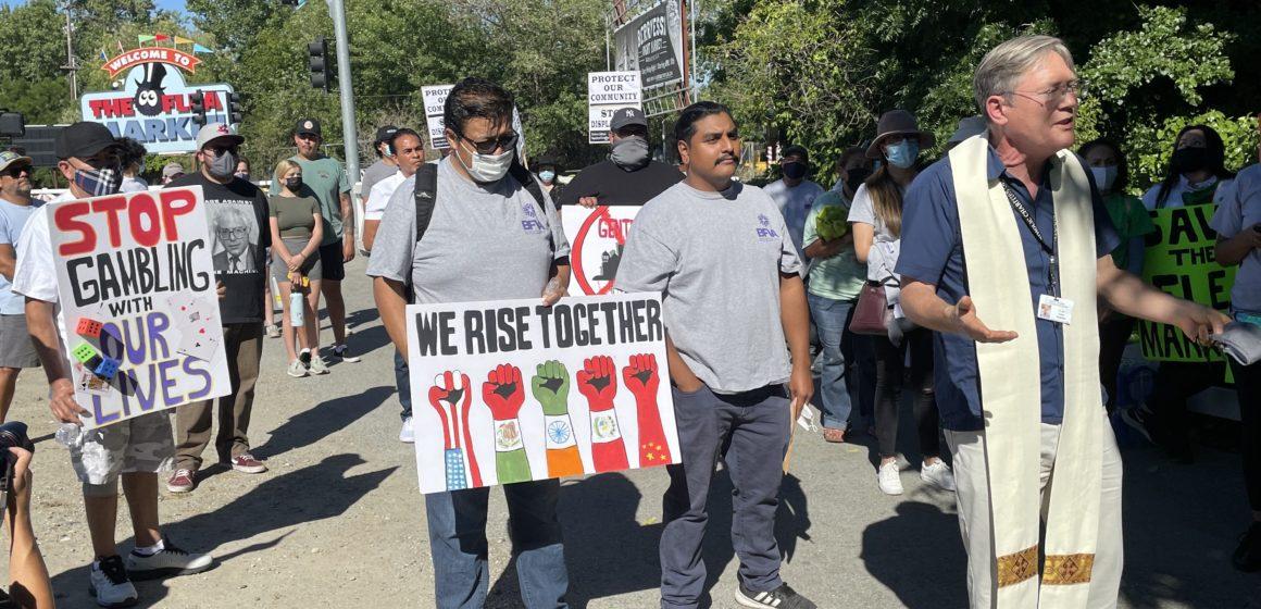 San Jose Flea Market vendors protest development plan