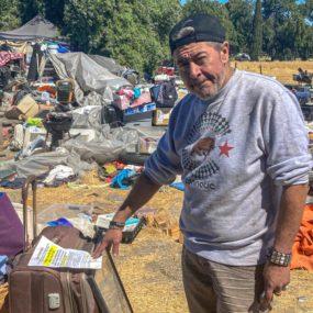 Un creciente campamento para personas sin hogar en San José