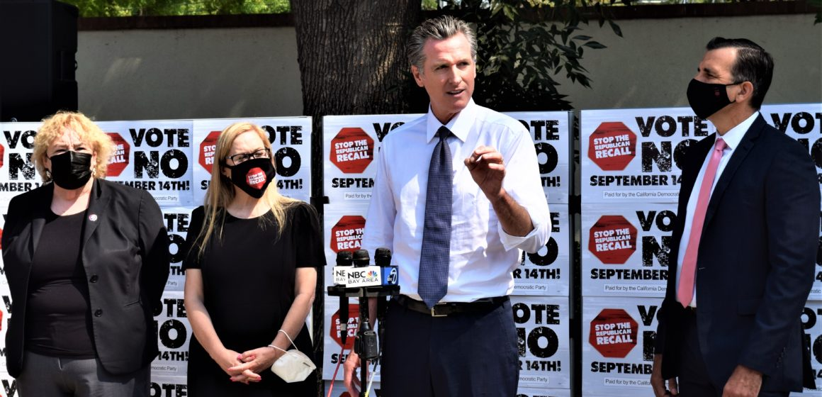 Newsom urges South Bay residents to oppose recall